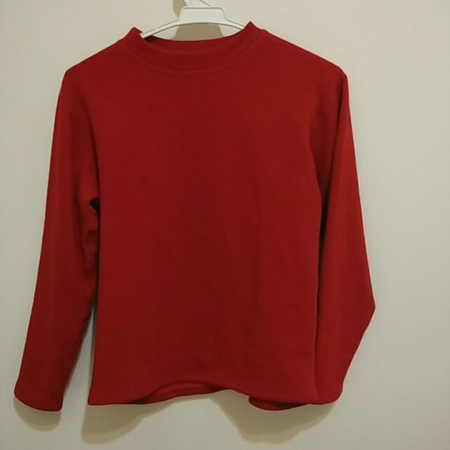 紅色棉質衣