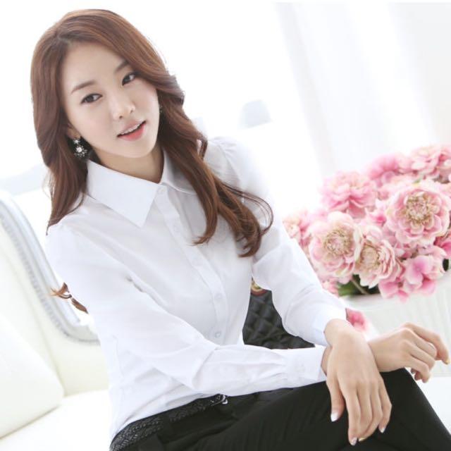 全新✨白襯衫 OL襯衫 長袖襯衫 上班族、小資女💼必備