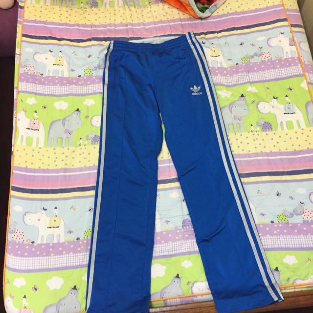 adidas藍色運動褲