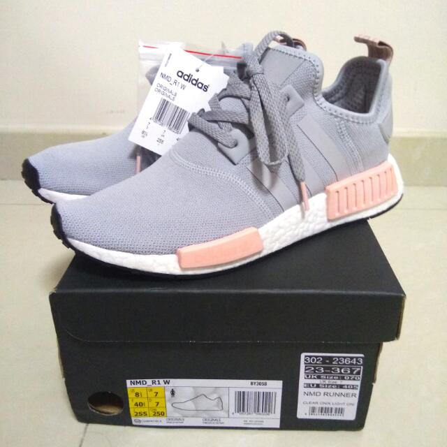4757154e2f2a2 Adidas NMD R1 Womens Clear Onix - Vapour Pink