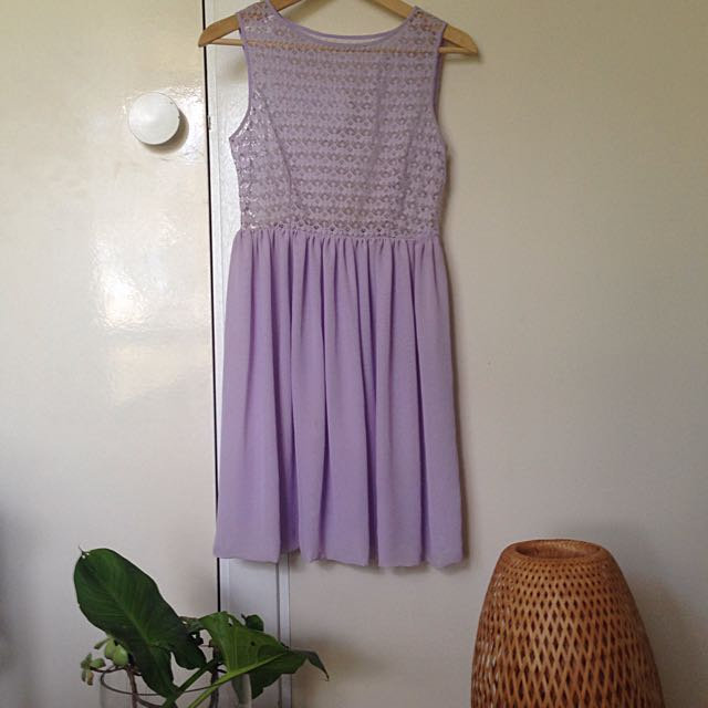 American Apparel Lavender Lace Dress