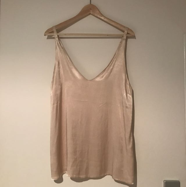 ATMOS&HERE Silky Camisole Top