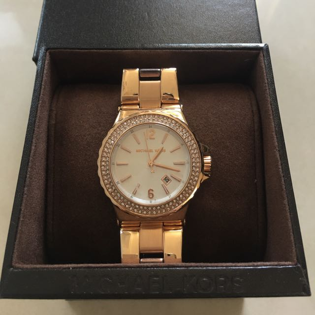 Authentic Michael Kors Rose Gold Ladies Watch With Warranty
