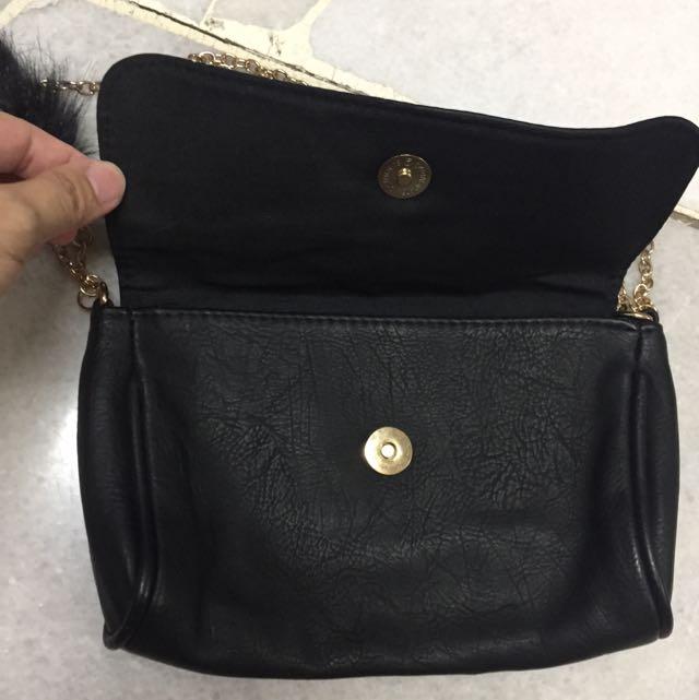 Bershka PU Chain Sling Bag