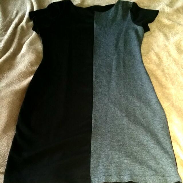 Black And Gray Dress