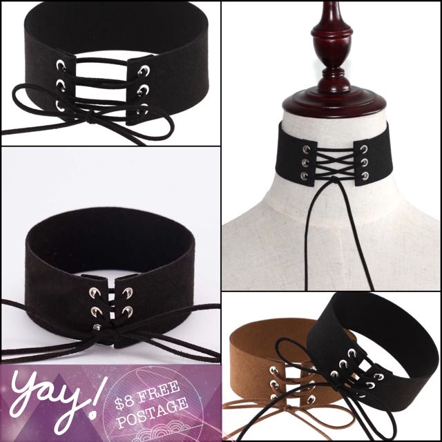 Black Lace Goth / Punk Choker - *FREE POST AUS WIDE*