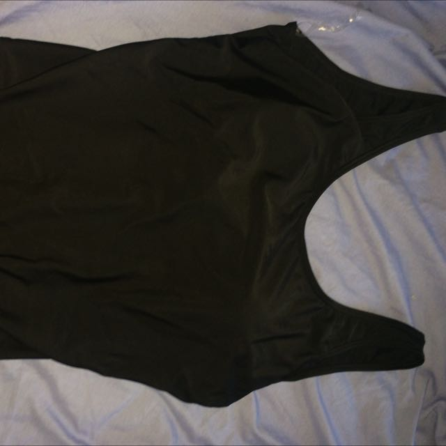 Black Low back Swimming Costume