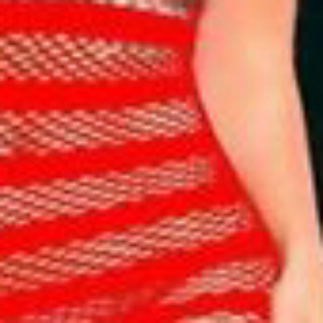 BNWT Red Fishnet Body Dress Mini O/S