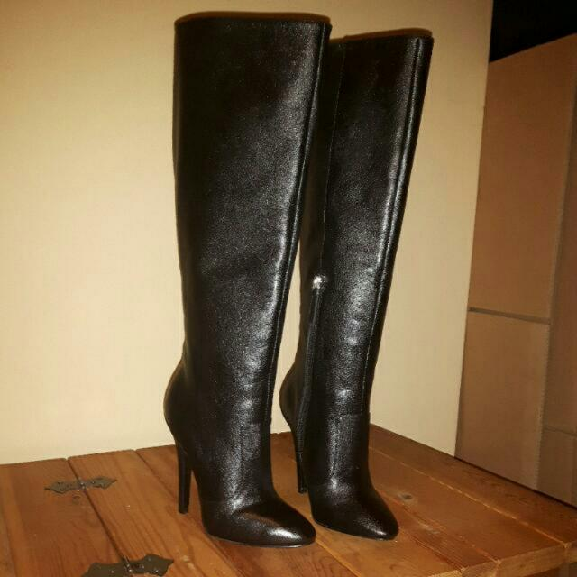 Brand New Nine West Black Leather Boots Size 5