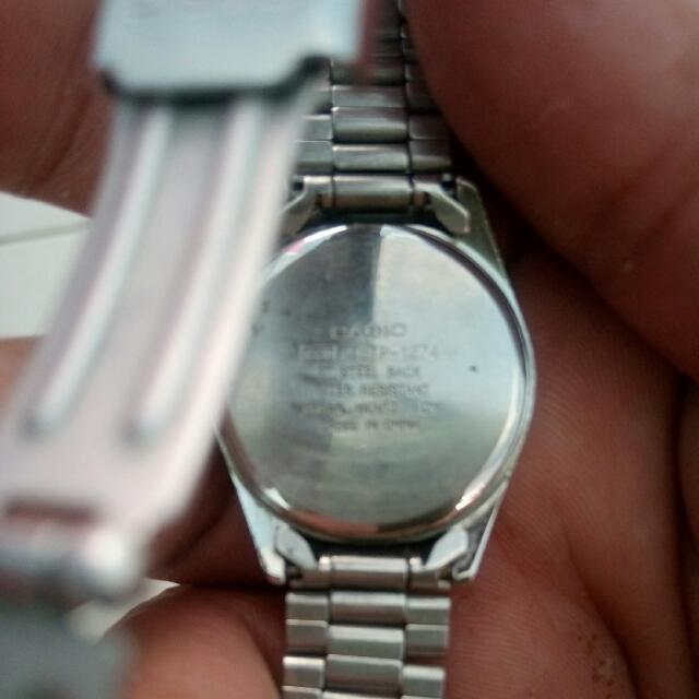 Steel back water resistant japan movt stainless