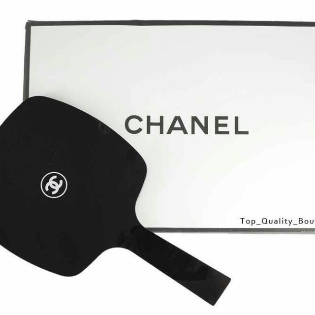 Chanel 黑色塑膠鏡子