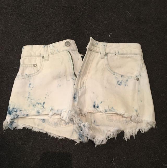 Dotti High Waisted Denim Shorts