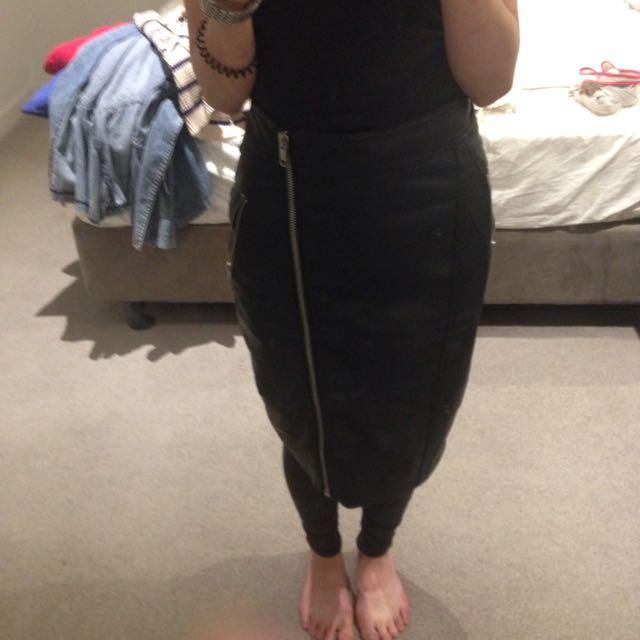 Dotti Latherfaux Skirt