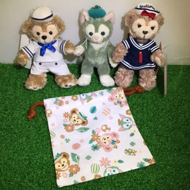 Duufy束口袋 雪莉玫束口袋 畫家貓束口袋 Duffy收納袋 Duffy