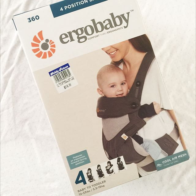ff7257415e1 Authentic Ergobaby 360 4 Position Baby Carrier on Carousell