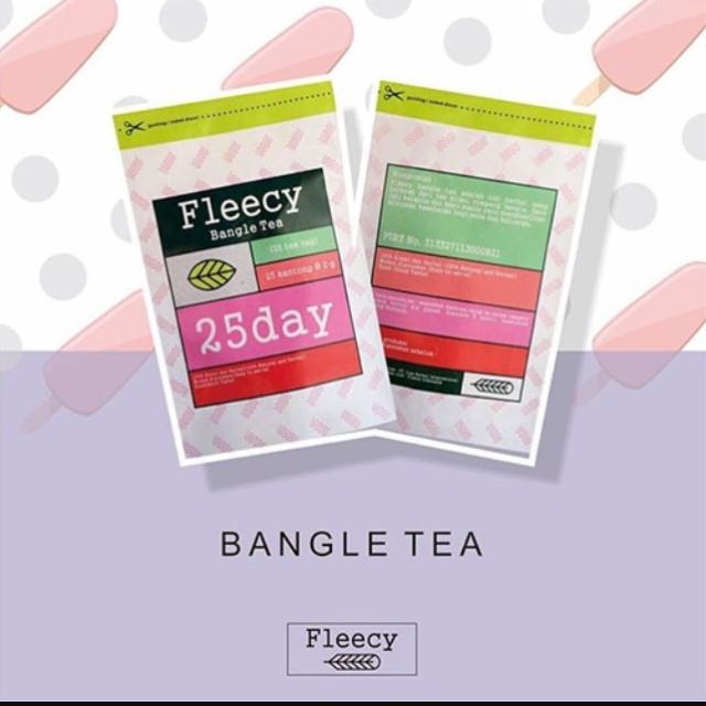 FLEECY BANGLE TEA (Teh pelangsing)