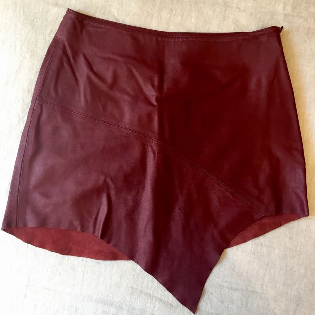 Friend Of Mine Leather Skirt