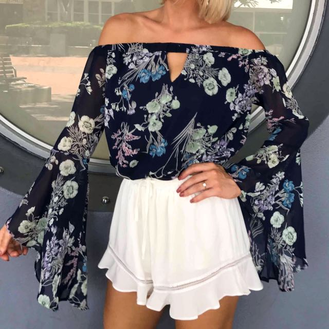 Get Gorgeous Floral Off The Shoulder Top