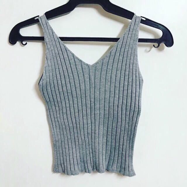 Gray Knitted Top