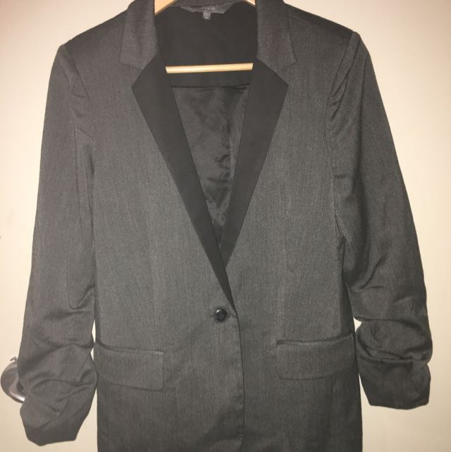 Grey/Black Blazer