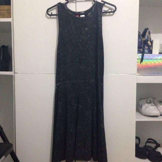 H&M Acid Wash Black Dress