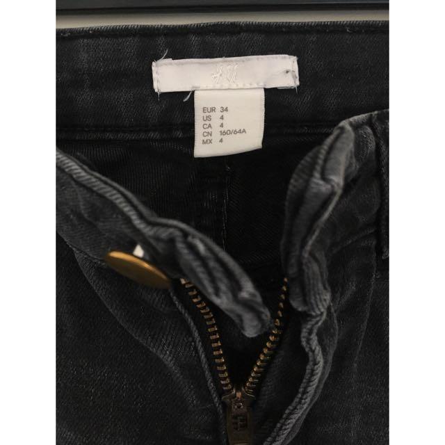 HM Black Denium Jeans