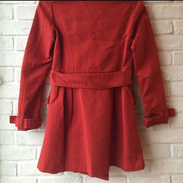 I'MIUSA 磚紅色女裝大衣