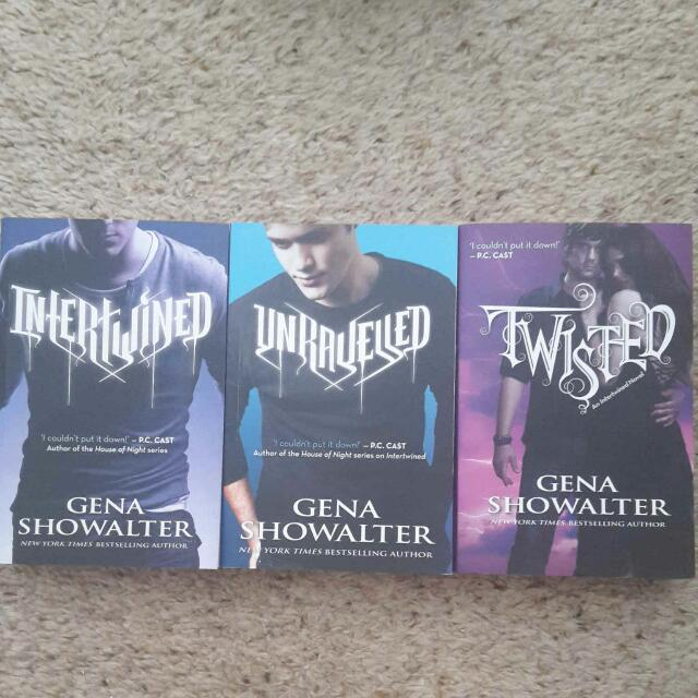 Intertwined teen novel series by Gena Showalter (Complete Set)