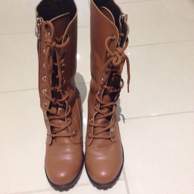 Korean Boots With Zip