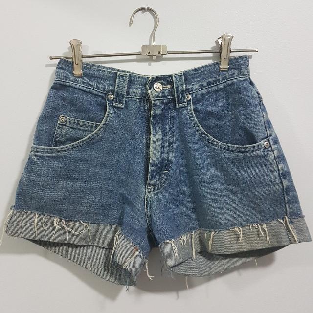Lee Pipes BMX Vintage Striped Jeans Denim Shorts