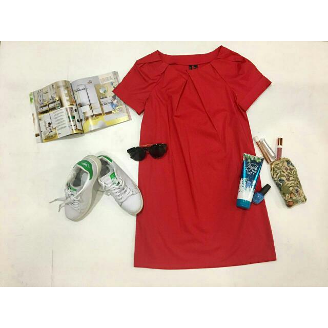 Mango Red Dress Size S