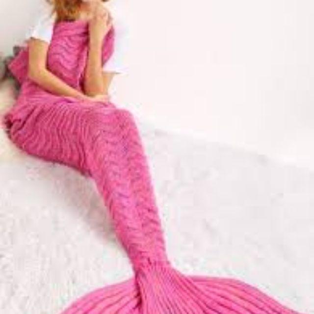 Mermaid Blanket - ROSE PINK - DARK