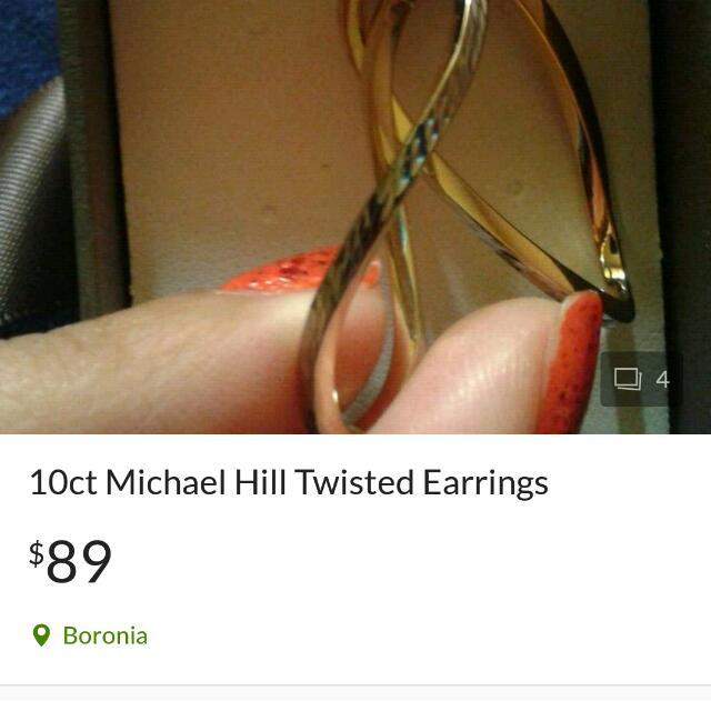 MichaelHill Twisted Earrings 10kt