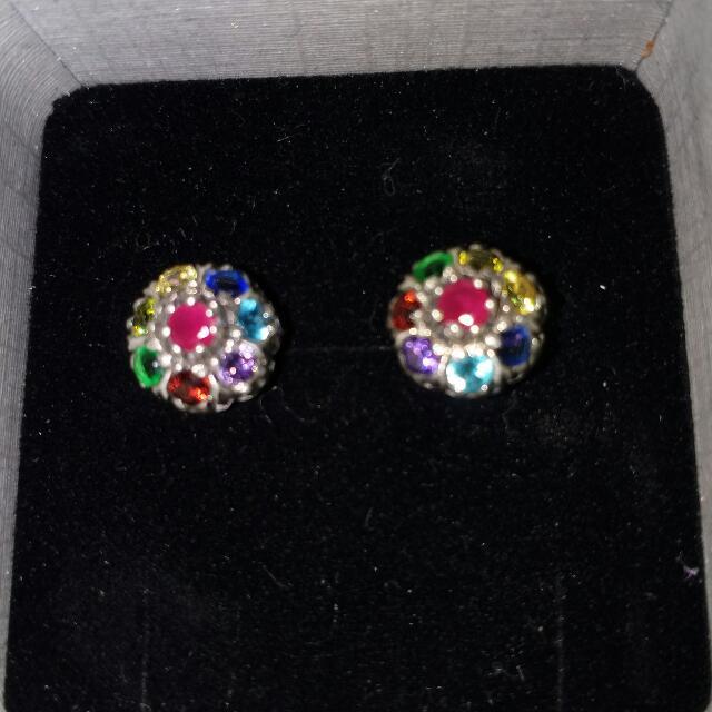 Multicolored Gemstone Earrings