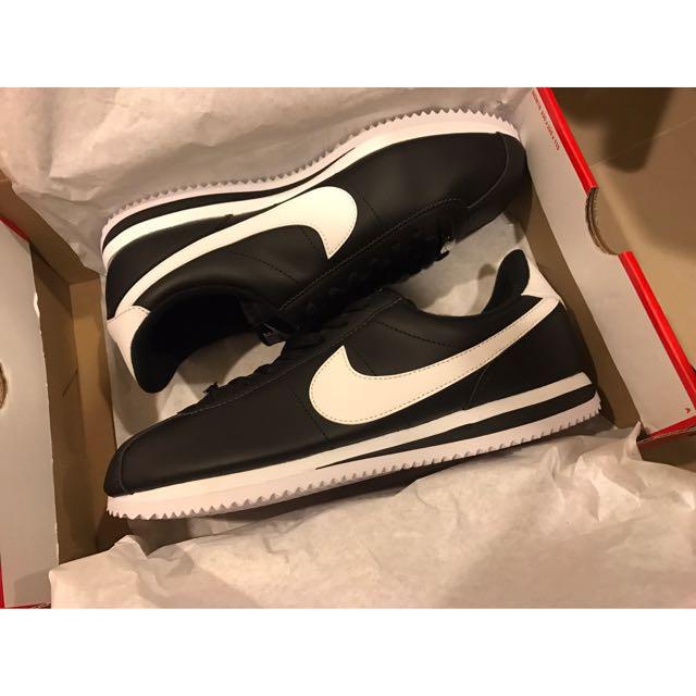 Nike cortez basic leather 黑阿甘鞋