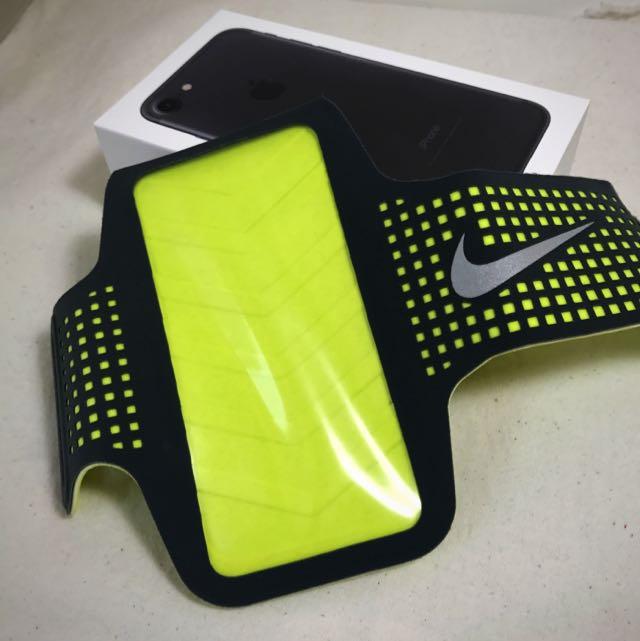 NIKE運動臂套 螢光綠魔鬼氈款(iPhone6/6s適用)#運費我來出