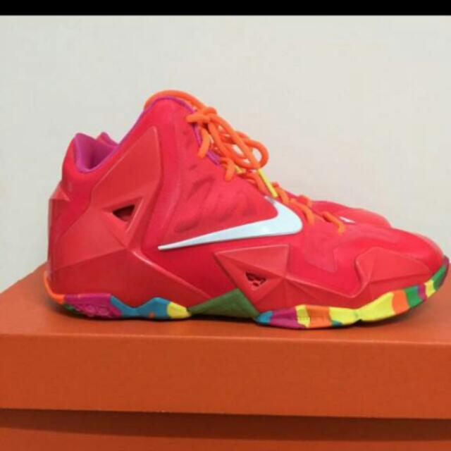 Nike Lebron XI 11 GS  FRUITY PEBBLES紅