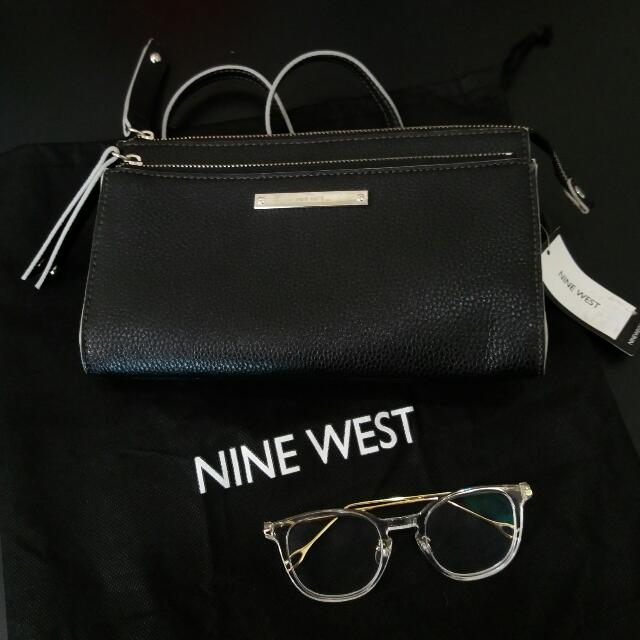 Nine West Zip n Go Sling BAG Authentic