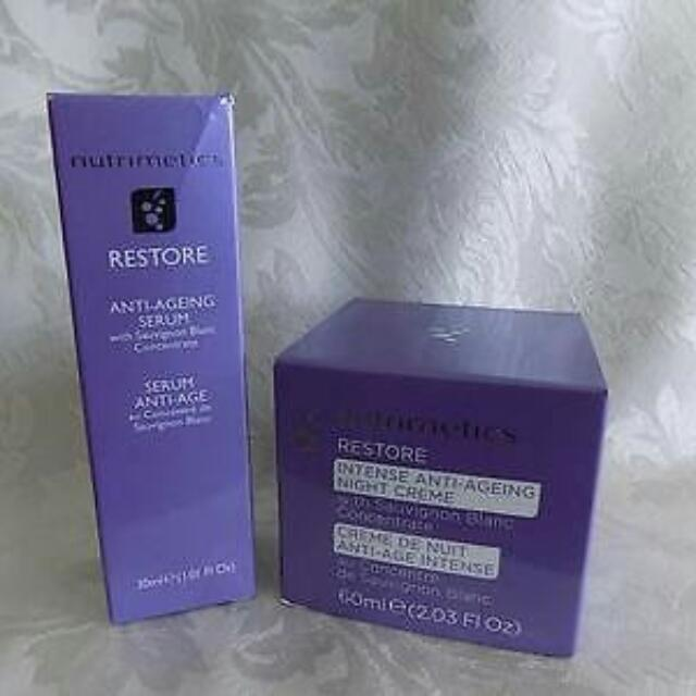 NUTRIMETICS RESTORE CLEANSING CREME AND DAY MOISTURIZER Anti-aging SPF 15