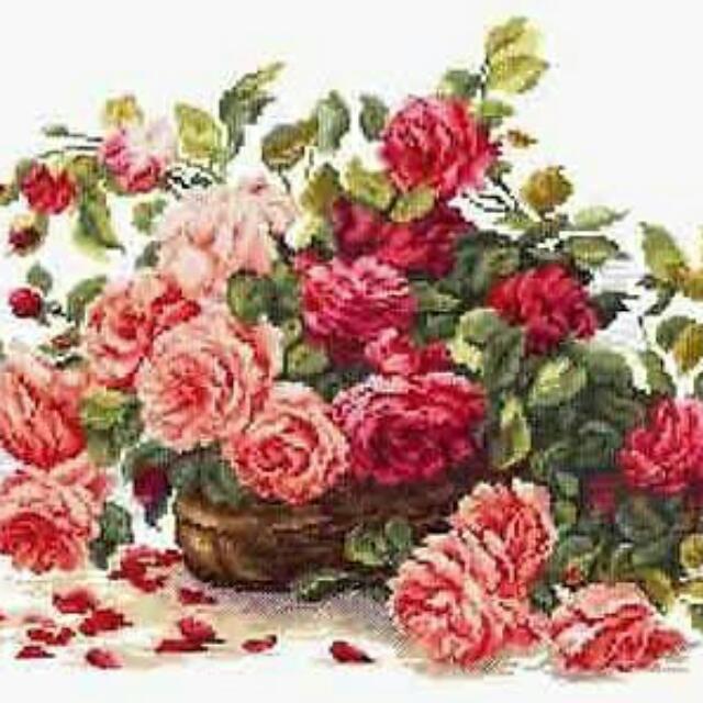 Paket Sulam Kristik / Cross Stitch Flower