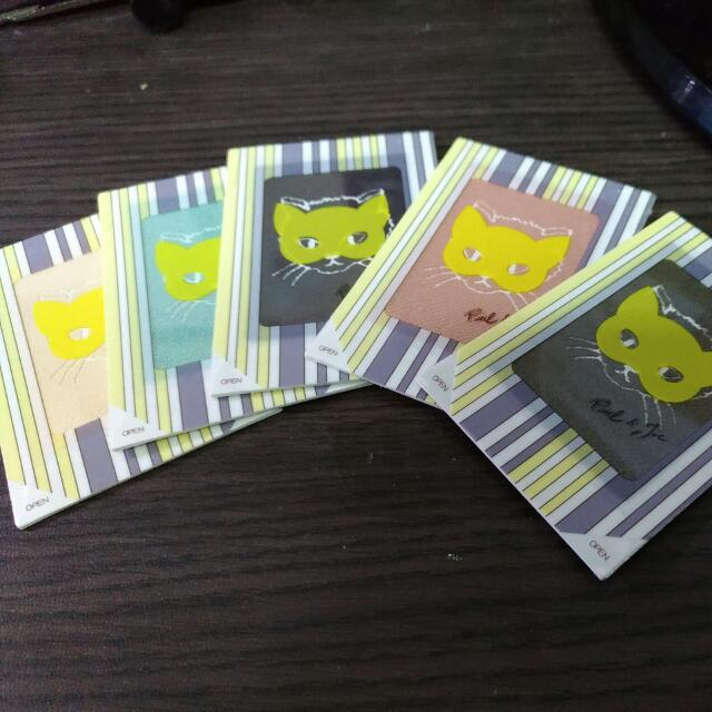 Paul&joe 貓咪眼影卡片