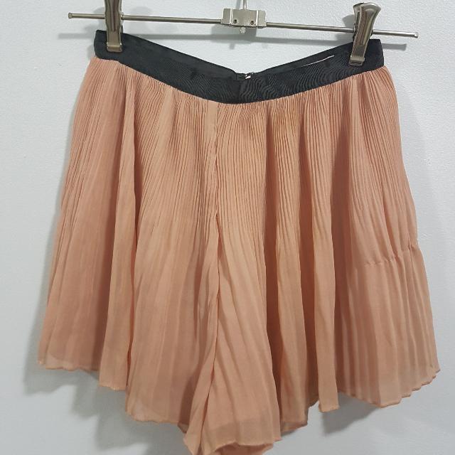 Peach Flowy Shorts
