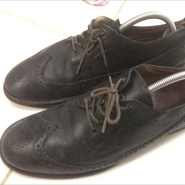 Portee Black/Brown Brogues Custom Size 42