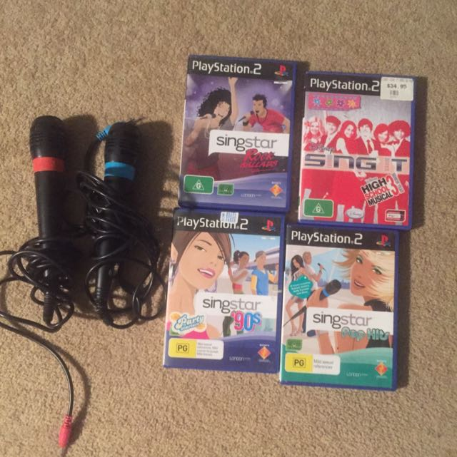 PS2 Sing star Bundle