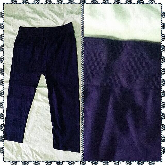Purple Mid-leg Tights
