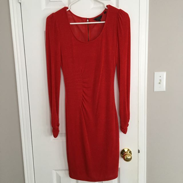 Red Mesh-back Guess Dress