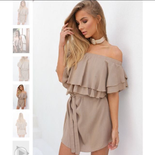 Size S Of Shoulder Dress Nude
