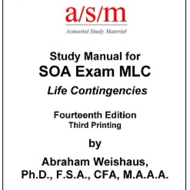 soa exam mlc asm manual books stationery textbooks on carousell rh sg carousell com asm exam c study manual pdf actuarial exam mlc study manual