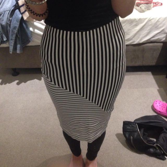 Sportsgirl Xxs Stripe Skirt