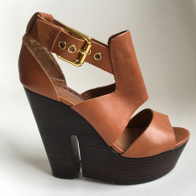 Tan Leather Wedges